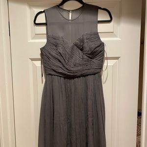 J Crew Size 2 Gray Clara Chiffon Dress